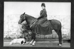 Emma DeBoom on Nelly ca 1904