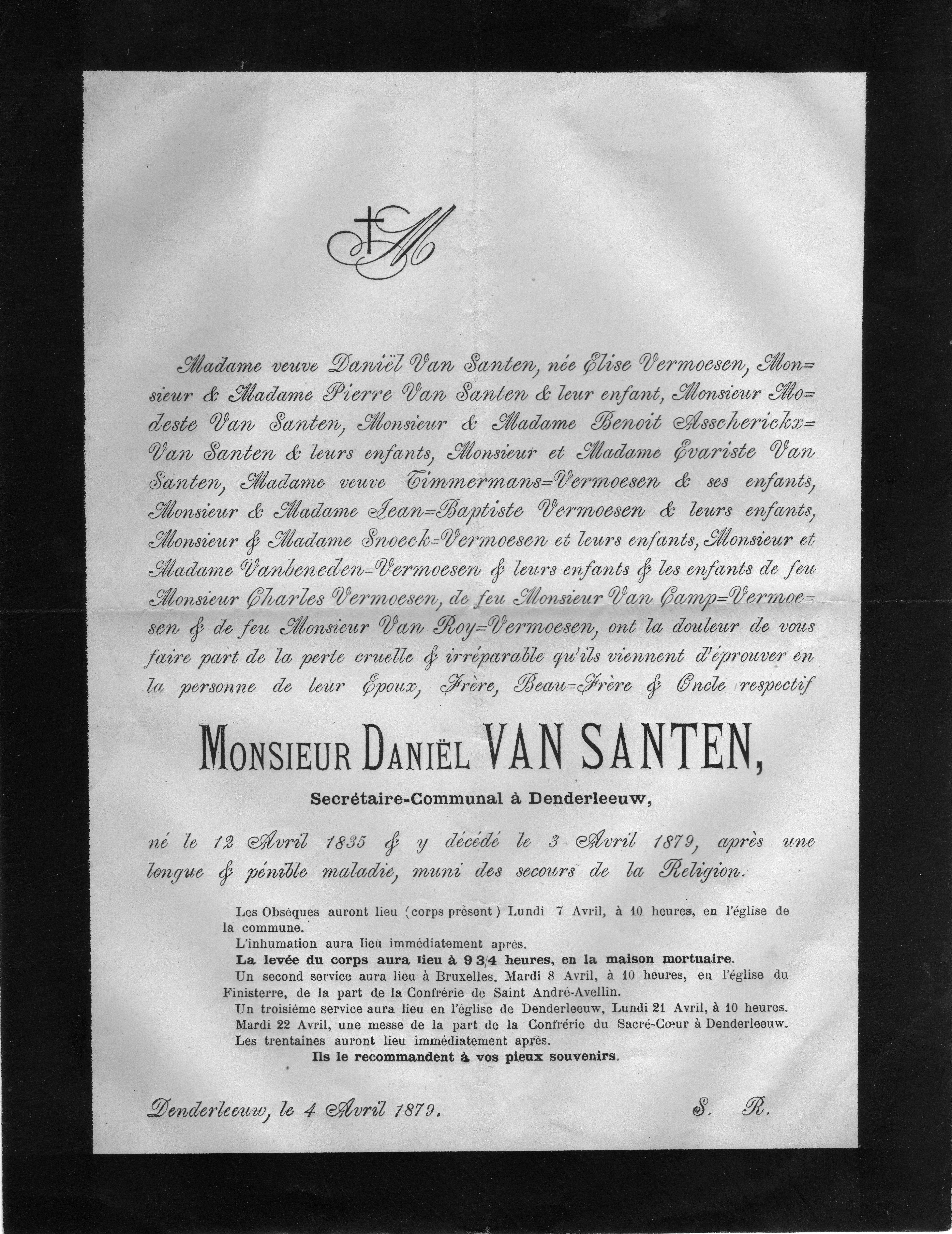 Death-Notice-1879-Daniel-Van-Santen