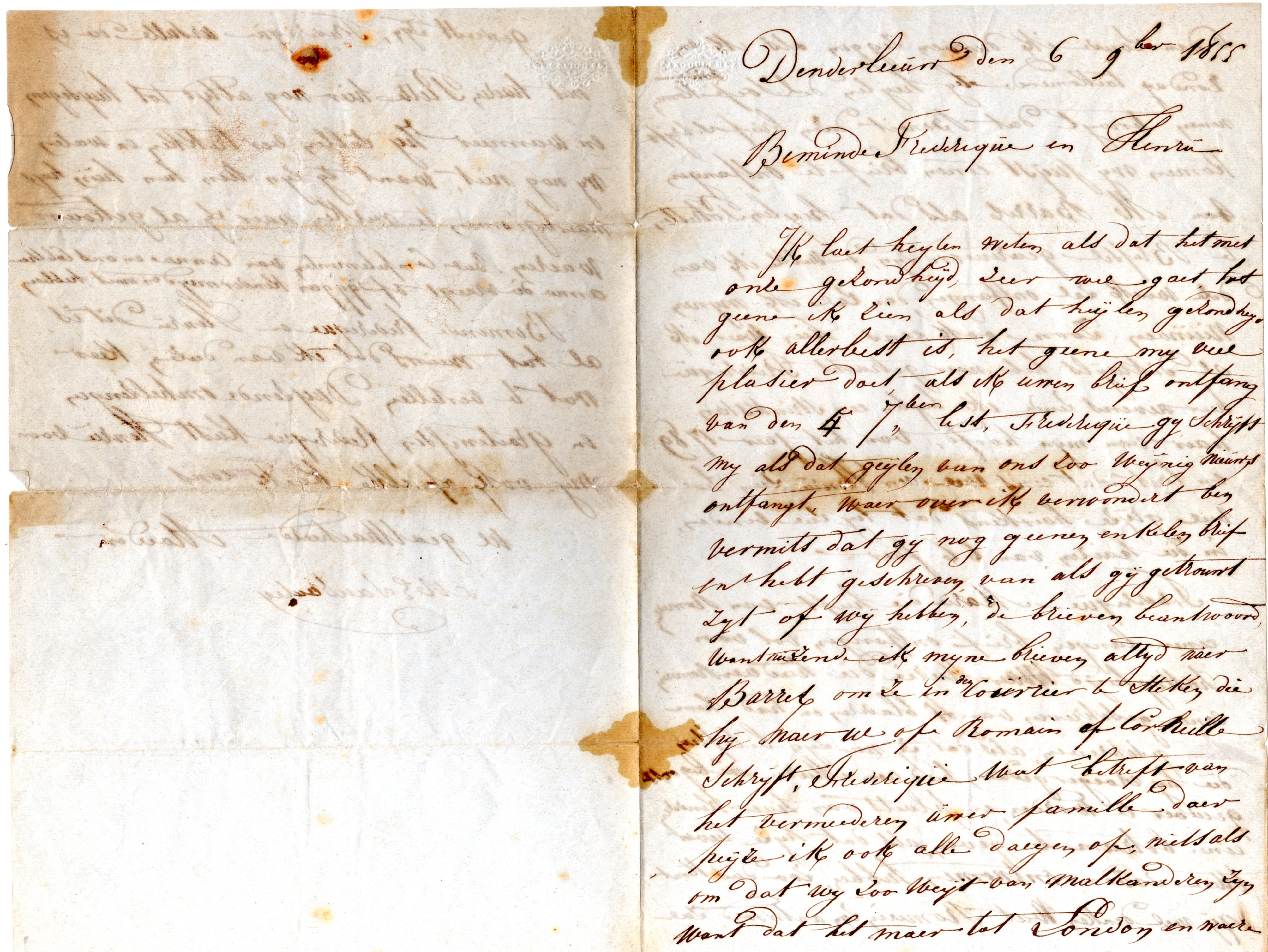 Elisabeth-Van-Santen_letter-1855_p1